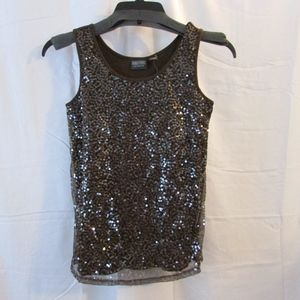 Additions by Chico's Size 0 Sequin Overlay Tank